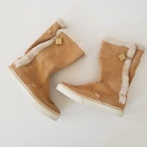 Vans Dasan suede tan boots size 8